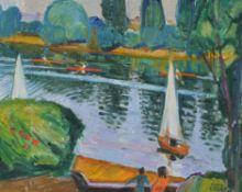 λ Hugh Cronyn (British 1905-1996), Sculls & Sails