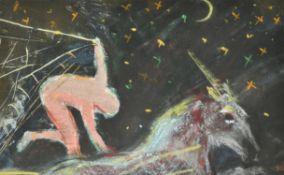 λ Sonia Lawson (British b. 1934), Trying to capture a unicorn