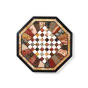 A Devon specimen marble octagonal table top