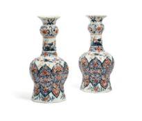A pair of Delft vases