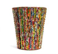An African wastepaper or laundry basket