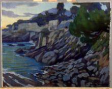 λ Giorgio Matteo Aicardi (Italian 1891-1984), Coastal landscape