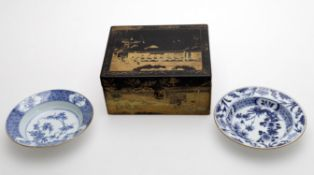 A 19th century Chinese export tea caddy