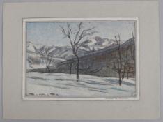 λ Giorgio Matteo Aicardi (Italian 1891-1984), Inverno in Piemonte