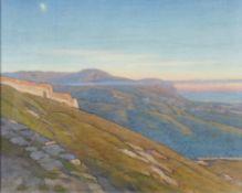 λ Giorgio Matteo Aicardi (Italian 1891-1984), Tramonto d'autunno