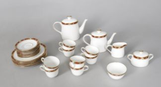 Modern ceramics including a Royal Crown Derby Cloisonne pattern tea set