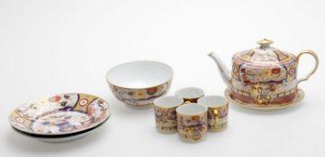 A John Rose Coalport Japan pattern part tea service