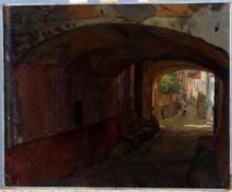 λ Giorgio Matteo Aicardi (Italian 1891-1984), Village scene Liguria
