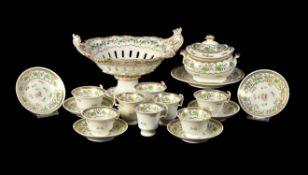 An English porcelain 'London' shape part tea service