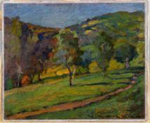 λ Giorgio Matteo Aicardi (Italian 1891-1984), Landscape with trees Genoa