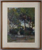 λ Giorgio Matteo Aicardi (Italian 1891-1984), Fountain at the Villa Luxor