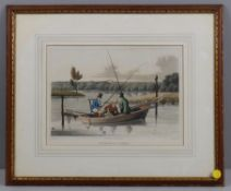 "Pictures to include ""Fishing in a punt"" after Henry Alken"