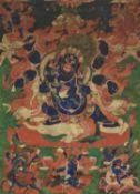 A Thang-ka depicting the Dharmapala Mahakala