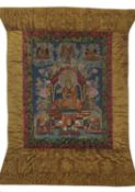 A Tibetan Thangka of Tsong Ka Pa
