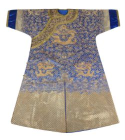A Chinese Gold work Dragon robe