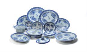 A Chinese Export 'Blue Fitzhugh' part dinner-service