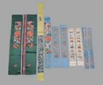 Four pairs of Chinese lady's sleeve bands