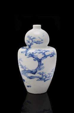 Kato Tomotaro (1851-1916): A Seto Porcelain Vase