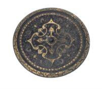 A Chinese bronze circular mirror