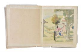 A Chinese album of twelve 'erotic' scenes