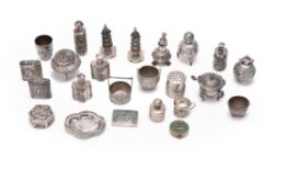 A collection of twenty four Chinese export sliver items