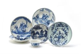 A group of blue and white wares