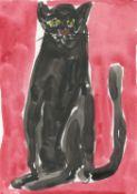 Jenny Watson, Old Black Cat, 2020