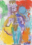 Sax Berlin, Sharp Edge 21st Century Neo Expressionist New York City Style, 2020