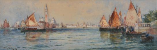Thomas Bush Hardy (British 1842-1897), Venice from the public gardens