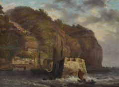 Attributed to Thomas Luny (British 1759-1837) , Clovelly