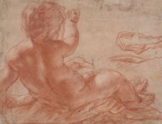 Italian School (c. 1700), Study of putto