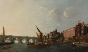 Follower of William James, Westminster Bridge from the Thames