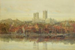 Harry Hine (British 1845-1941) , Lincoln Cathedral