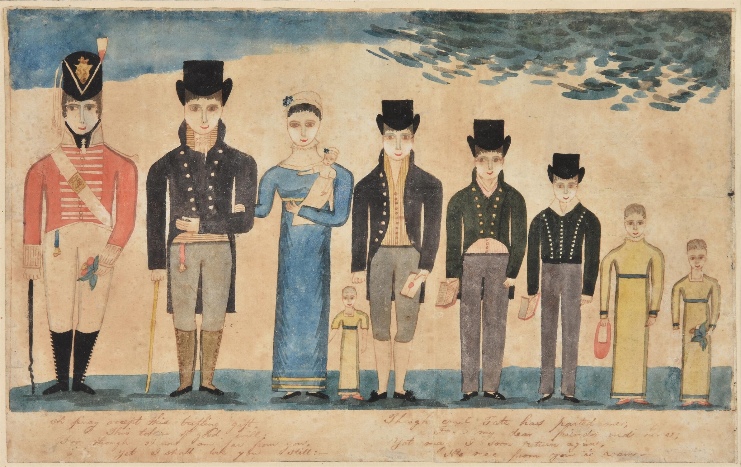 Irish School (c.1816), William Winter and his family - Image 2 of 2