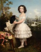 Jules (Jean-Francois-Hyacinthe) Laure (French 1806-1861), Girl with King Charles spaniel