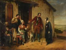 Paul Emile Destouches (French 1794-1874), The good Samaritans