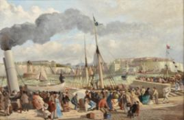 Francis Henry Howard Harris (British 19th century) , Ramsgate Harbour on the Queen's Birthday 1864