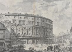 Giovanni Battista Piranesi (Italian 1720-1778) , Teatro Di Marcello from: Vedute di Roma