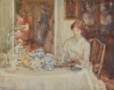 λ Dame Ethel Walker (British 1861-1951) , Breakfast Time