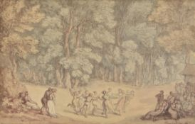 Thomas Rowlandson (British 1757-1827) , A forest dance