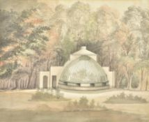 Attributed to Paul Sandby (British 1731-1809), Design for a green house for the Earl of St Vincent