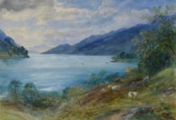 John MacWhirter (Scottish 1839-1911), Loch Lomand from near Tarbet