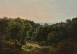 Jean-Joseph-Xavier Bidauld (French 1758 -1846) , A wooded landscape