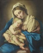 Manner of Follower of Giovanni Battista Salvi (Il Sassoferrato), Madonna and child