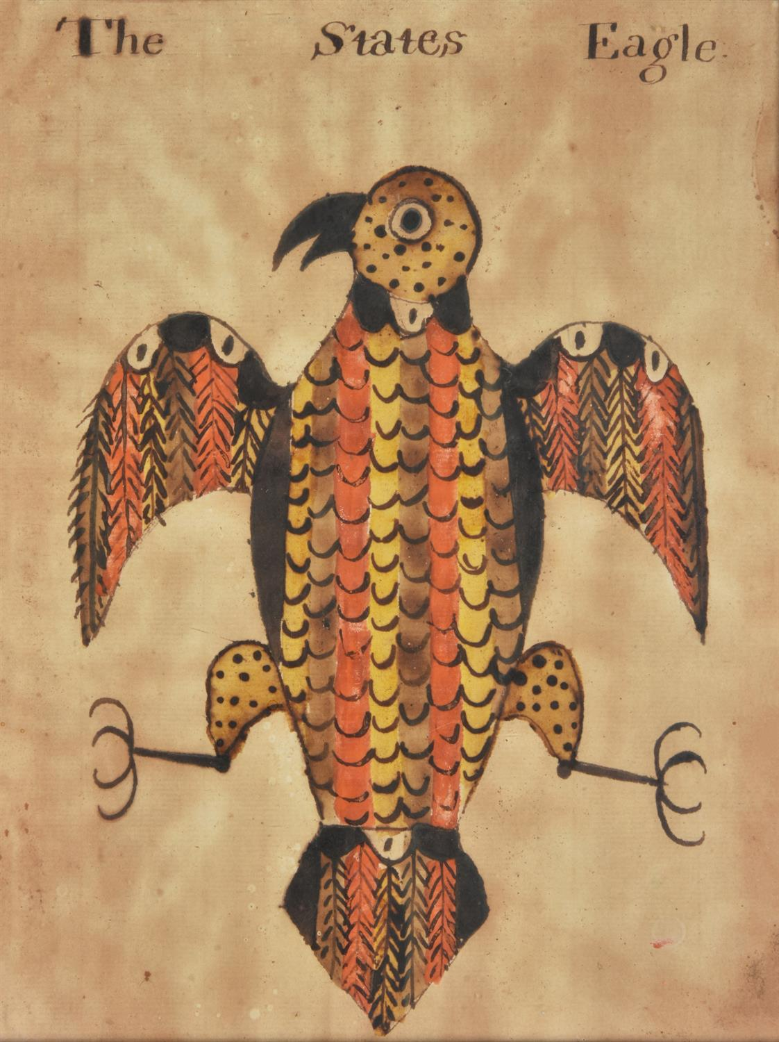American School (early 19th century) , The States Eagle - Image 2 of 3