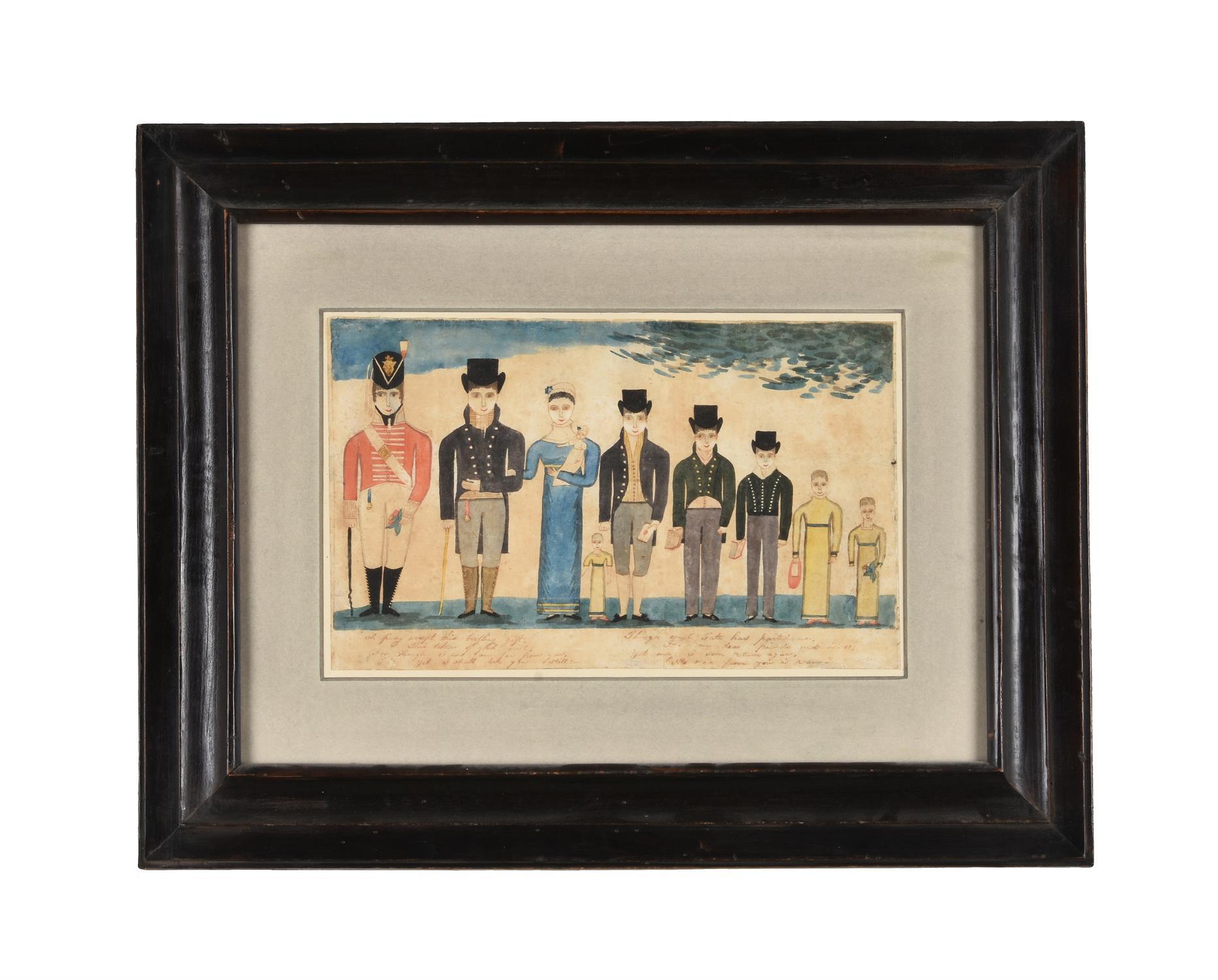 Irish School (c.1816), William Winter and his family