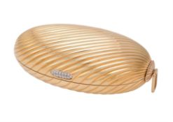 An Italian gold coloured oval Melone evening purse