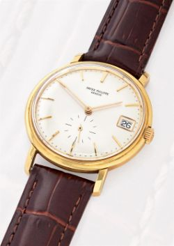 Patek Philippe, Calatrava, ref. 3445, a gold coloured wrist watch
