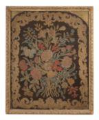 A large George II needlework panel