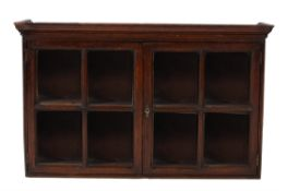 A George II oak hanging wall cabinet